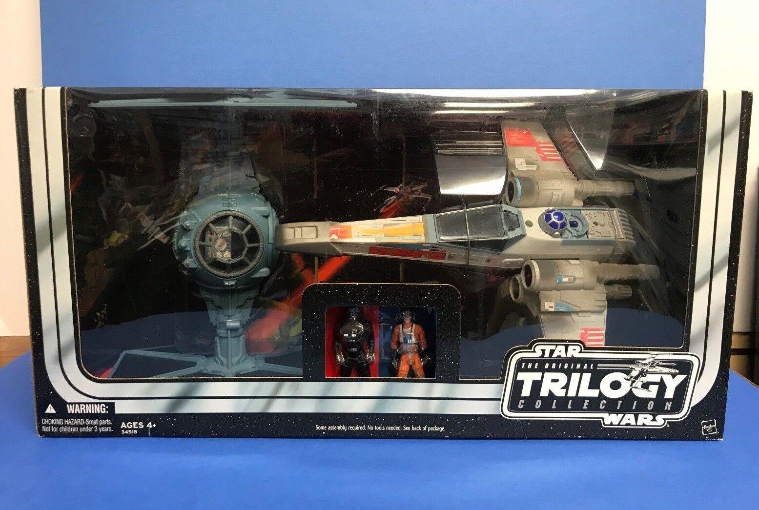 entrega gratis Tie Fighter y X-Wing X-Wing X-Wing Fighter Estrella Wars Trilogy 2004 Hasbro Con Luke Skywalker  despacho de tienda