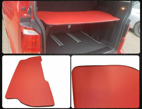 VW T5  T6 Multivan Multiflexboard Bettverlängerung Ablage H:53cm Kunstleder Rot