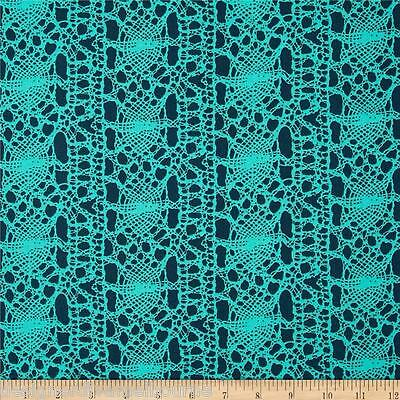 TRUE COLORS Stocking in Turquoise by Amy butler cotton quilting fabric