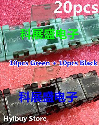 20pcs Green SMT SMD Kit Laboratory chip Components Screw Storage Box Case
