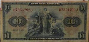 1948-Germany-Federal-Republic-10-Zehn-Deutsche-Mark-Note