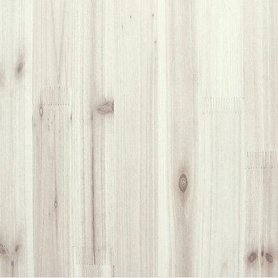 1m * Cypress White Wood Pattern Sheet Self Adhesive Peel-Stick Wallpaper no25
