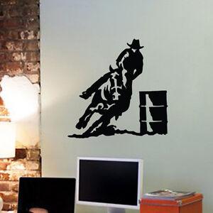 Horse Barrel Racing Wall Vinyl Decal Sticker Kids Room