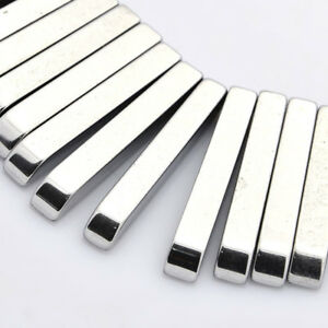 Silver-Plate-Grade-AAA-Non-magnetic-Synthetic-Hematite-Rectangle-Graduated-Beads