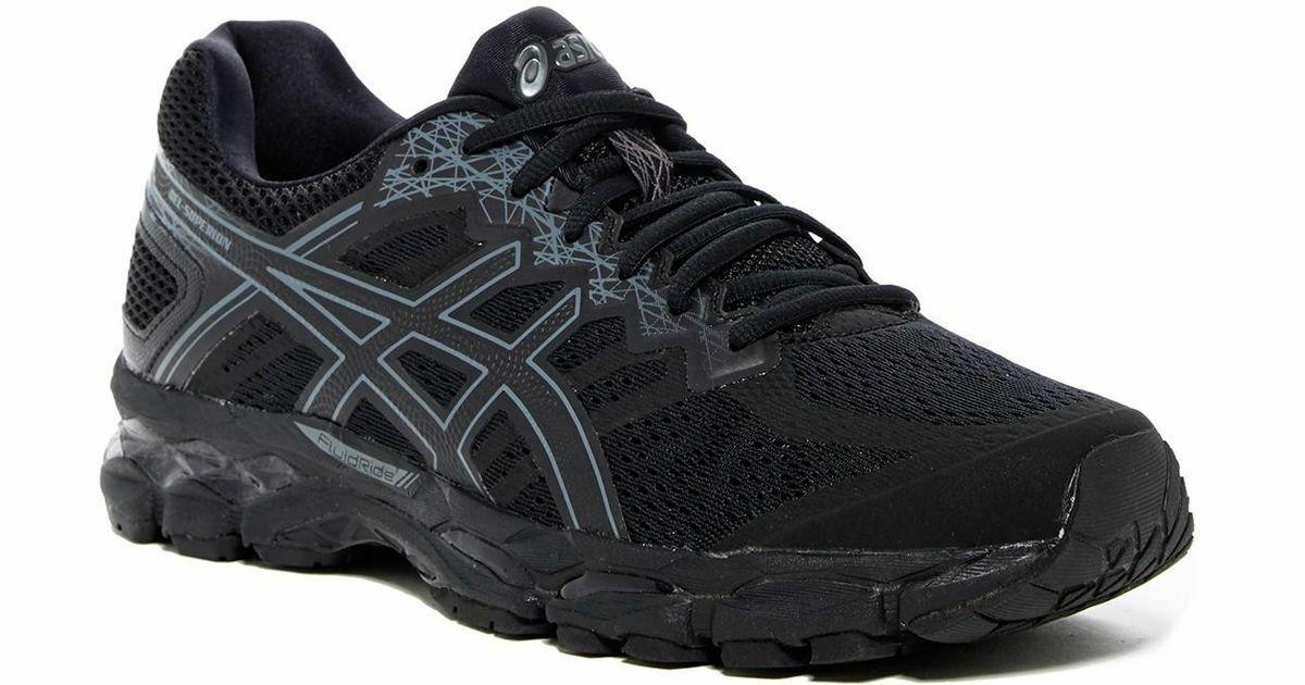 ASICS GEL-Superion Negro gris Oscuro Zapatos Correr Talla UK-6_7.5_8.5_9_10.5_11