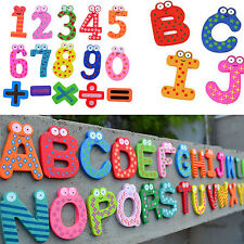 CH 26pcs Wooden Magnetic Fridge Magnet Number Alphabet Letter Educational Toys