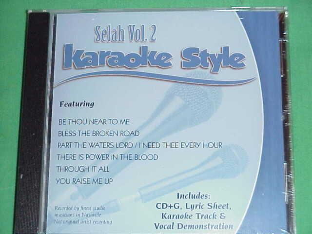 Selah Volume 2 Christian Karaoke Style CD G Daywind 6 Songs