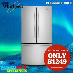 Whirlpool WRF532SNBM 33 French Door Refrigerator With 21.5 cubic ft Energy Star Efficient, LED Lighting, Stainless Stee Markham / York Region Toronto (GTA) Preview