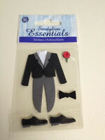 For 3 Packages Sandylion Essentials Wedding Tuxedo Groom Prom Dress Up Tux 3d