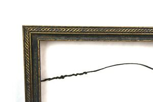 Antique-Ornate-Art-Nouveau-Picture-Frame-Gold-Painted-Gesso-Fits-14-x-11