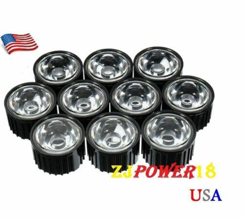 20pcs 120 degree Lens Reflector Collimator W//Holder For 1~5w LED Black