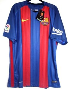 new style 30826 d4f07 Details about Barcelona FC Shirt BNWT New 2016/2017 Nike Home Football XL  45