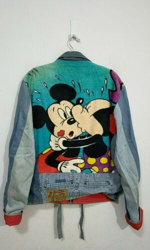 VINTAGE TOO CUTE MICKEY MOUSE  REMAKE DENIM