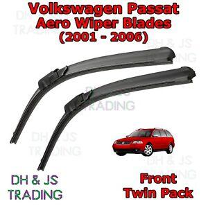 01-05-Volkswagen-PASSAT-B5-5-Aero-Wiper-Blades-Limpiador-de-hoja-plana-Delantero-VW