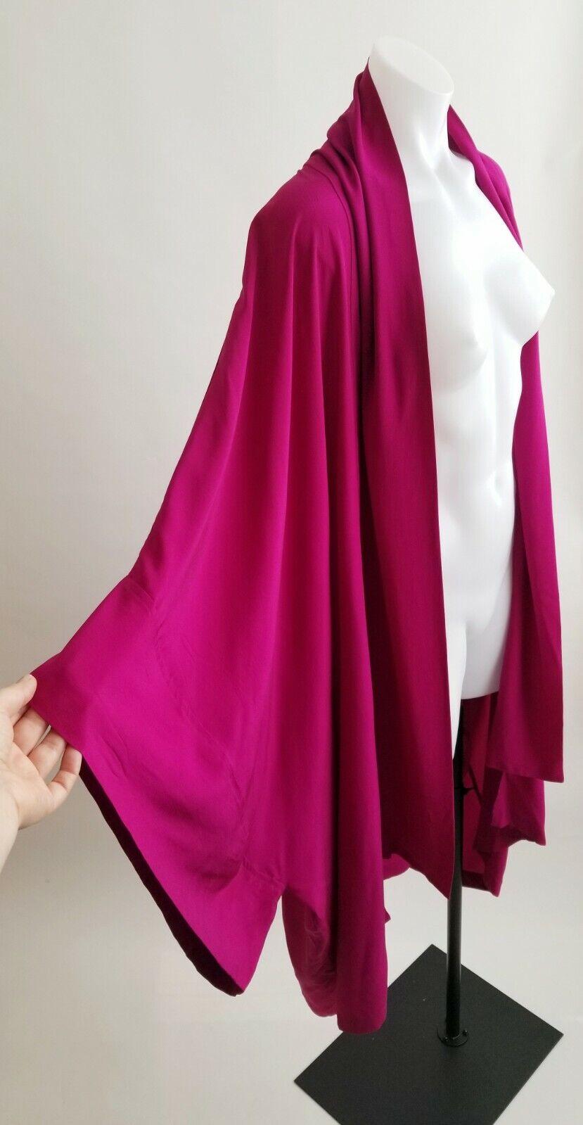 Laise Adzer Womens Silk Vintage Open Front Boho K… - image 3