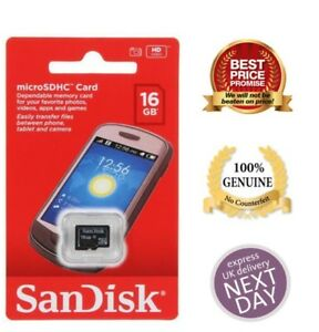 Sandisk-Micro-SD-16GB-SDHC-Samsung-Memory-Card-Microsd TF Mobile Phone Class 4