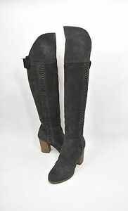 Details about DV by Dolce Vita 'Myer' Over the Knee Suede Boot Charcoal Gray Size 9.5 Otk