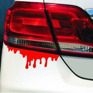 2x-Blut-Sticker-Aufkleber-Auto-Motorrad-Blood-Rueckleuchten-Scheinwerfer-Tropfen