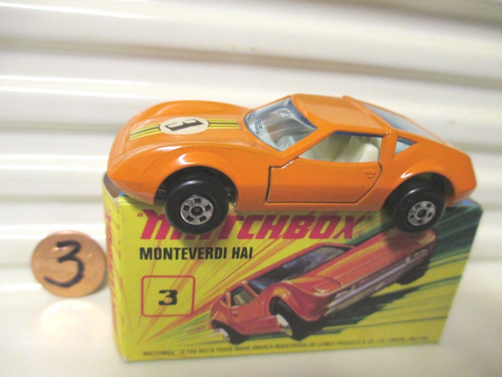 LESNEY MATCHBOX 1973 MB3B MONTEVERDI HAI Superfast Variations C9 Boxed