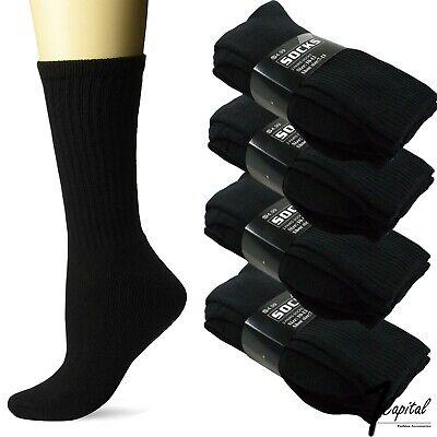 3-12 Pairs Men/'s Solid Athlete Sports Low Cut Crew Socks Cotton Size 9-11 10-13