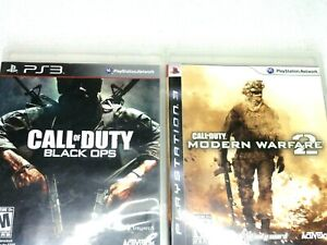 Lot of 2 PS3 Games Call of Duty Black Ops Call of Duty Modern Warfare 2