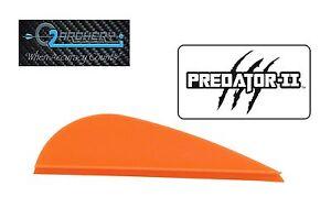 "Pkg 100 ***When Accuracy Counts 2.0/"" Neon Orange Raptor II Vanes By Q2I Archery"