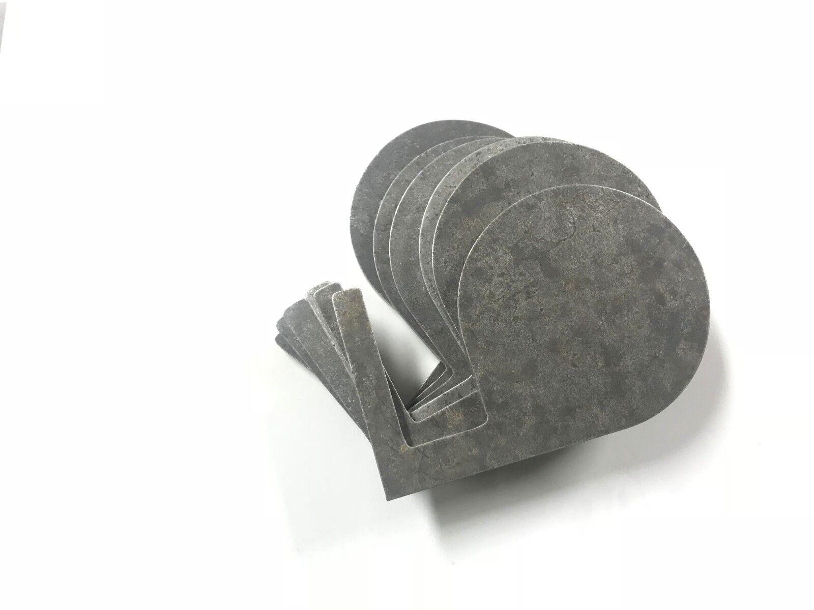 Árbol de destino de duelo de acero excedente AR500 Hágalo usted mismo kit (6) 6  X 1 2  Paletas