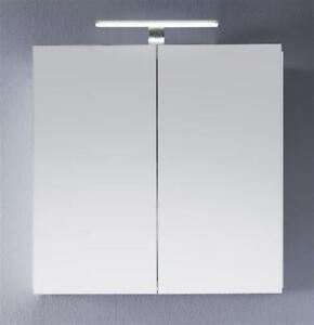 Details zu Badezimmer Spiegelschrank Hochglanz weiß Lack 60 x 60 cm Bad  Schrank Intenso