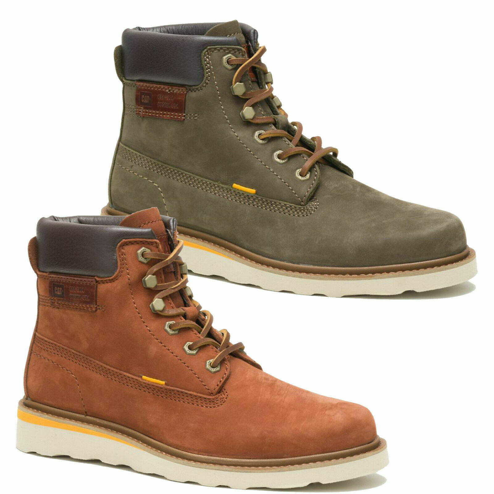 Mens Caterpillar Jackson Hi Biker Riding Lace Up Ankle Boots Sizes 7 to 12