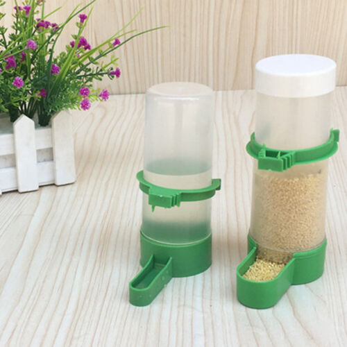 Pet Cage Aviary Bird Parrot Budgie Canary Drinker Food Feeder Waterer ClipNIYN