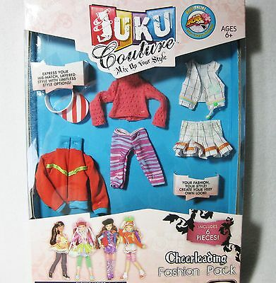 Juku Couture Doll Fashion and Accessories Pack Cheerleader NEW!