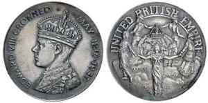 BHM4295 UK Edward VIII Proposed Coronation 1937 Silvered Medal G.CM257b