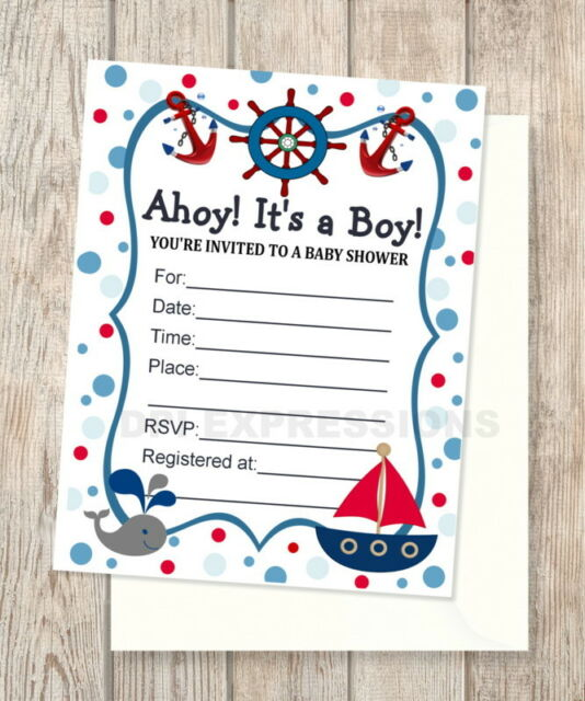 24 Cnt Baby Blue Nautical Shower Fill