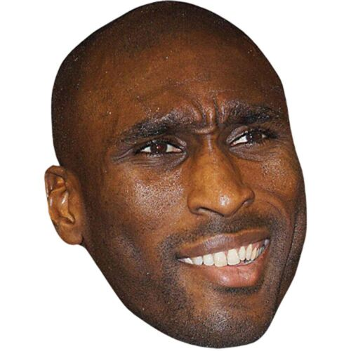Card Face and Fancy Dress Mask Sol Campbell Celebrity Mask