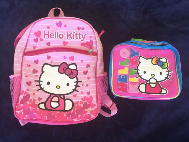 adf5d2807 Hello Kitty Backpack Insulated Lunch Cooler Bag Sanrio Cosplay Kawaisa  Japan for sale online | eBay