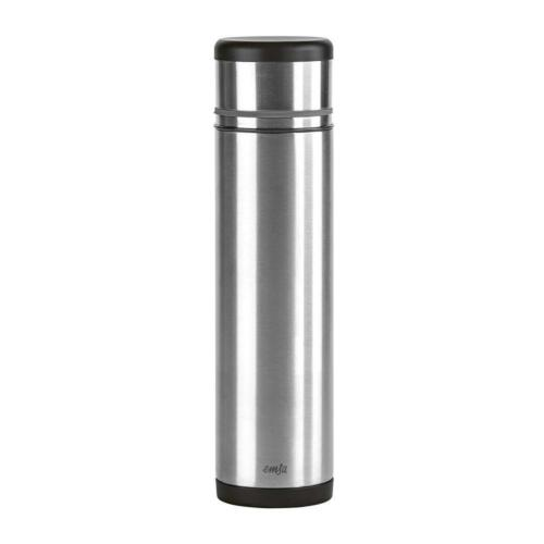 Emsa Isolierbecher 1L Isolier Becher Thermobecher Kaffee Tee Trinkbecher Schwarz