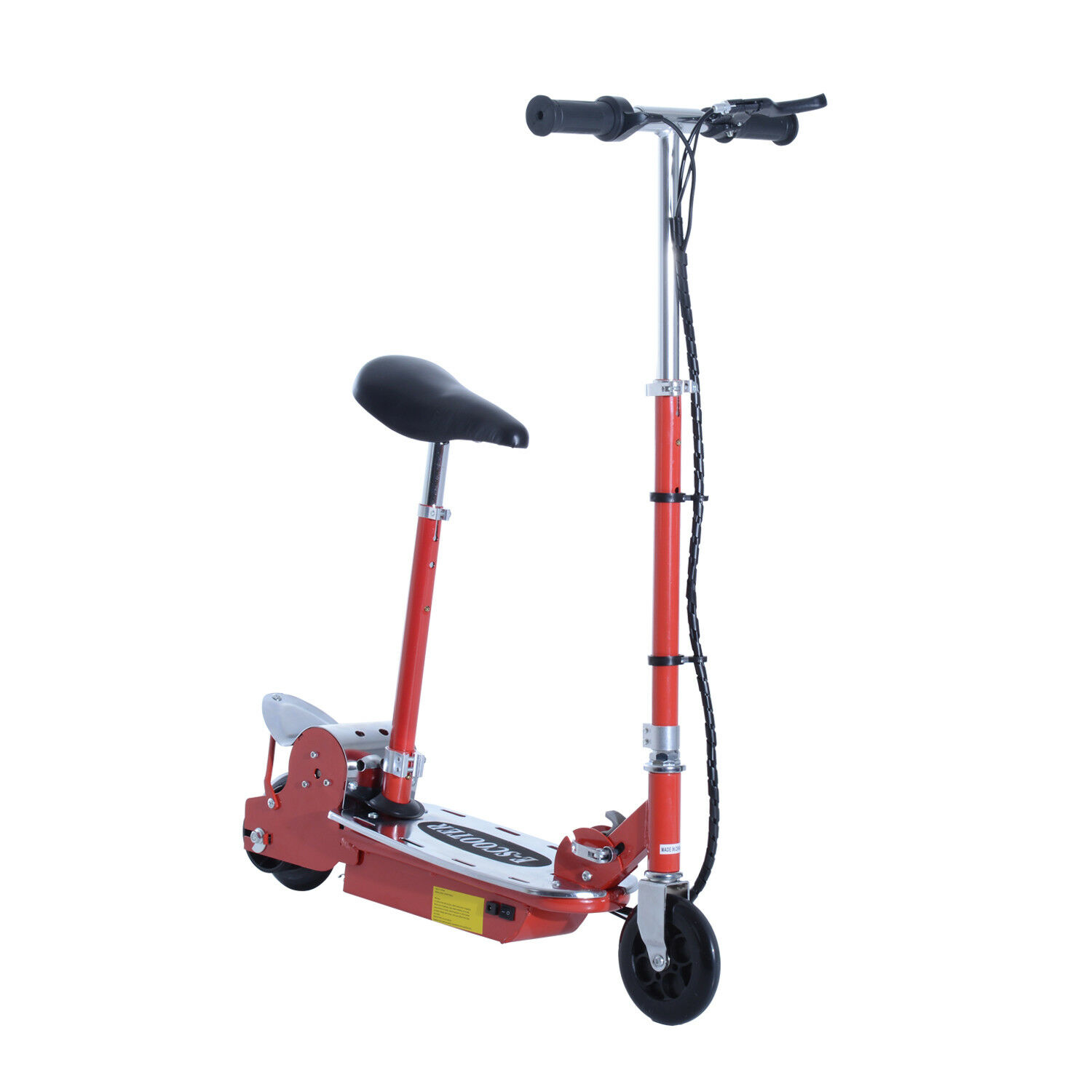 Qaba E-Scooter Street Bike Seated Electric Scooter Foldable Battery Rechargeable