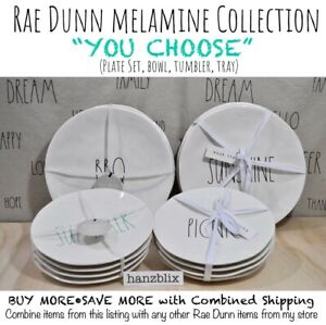 RAE-DUNN-Plate-Bowl-Melamine-POPCORN-TRUE-NORTH-BEACH-BBQ-SEA-034-YOU-CHOOSE-039-18-20
