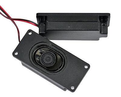 2Pcs 3070 4 Ohm 3W Advertising LCD TV Speakers Loudspeaker Rectangle Speaker NEW