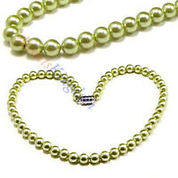 Accents Kingdom Women's Magnetic Hematite Green Pearl Necklace 18