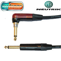 "Van Damme XKE Guitar/Instrument Cable Neutrik 1/4"" R/A SILENT Jack Connector"