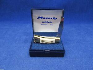 Maserin-Miniature-Genuine-Stag-Mini-Knife-Mint-Case-707CV-Mint