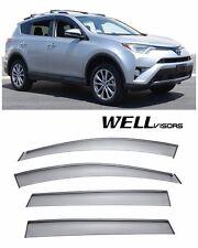 WellVisors Side Window Visors Deflectors W/ Black Trim For 13-UP Toyota RAV4
