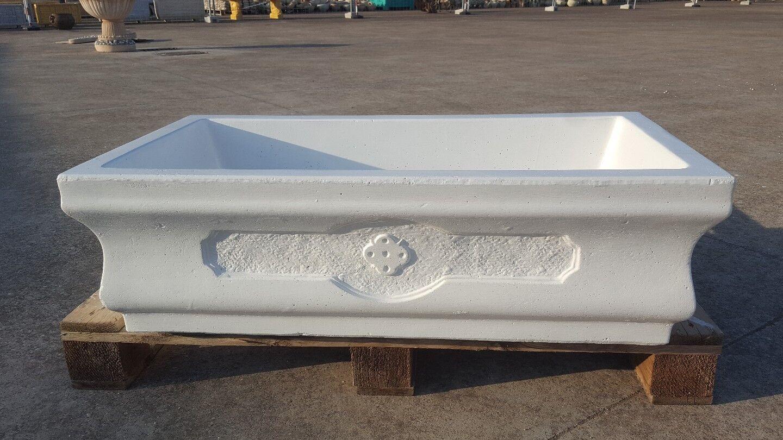 Lucido lavabo lavandino lavello cemento no marmo  pietra esterno Bianco acquaio