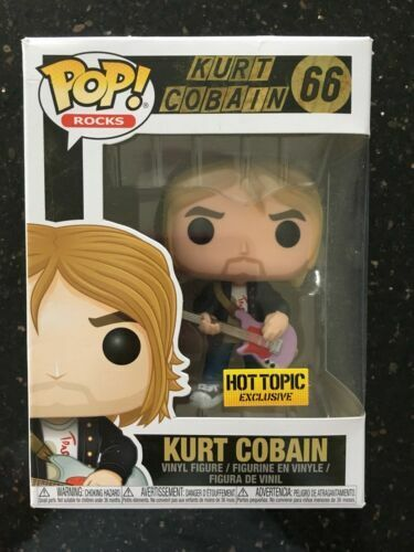 Funko Pop Rocks Kurt Cobain Nirvana Vinyl Figure Hot Topic 66 for sale  online | eBay