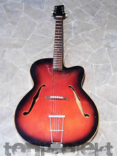 vintage GERMAN redburst archtop Jazz acoustic cutaway GUITAR Germany KLIRA ?