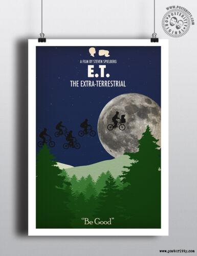 Minimalist Art Movie Poster Minimal Print Posteritty E.T Extra Terrestrial