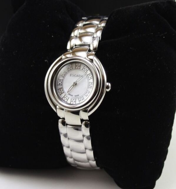66a199a3c056 Authentic ESCADA Silver Ivory Ladies Women's E2435011 Watch for sale ...