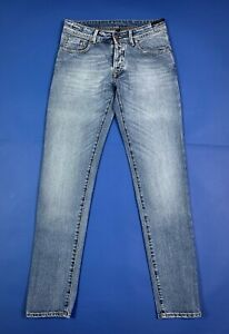D-one-jeans-uomo-usato-W31-tg-45-skinny-slim-denim-luxury-blu-boyfriend-T6792