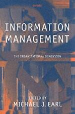 Information Management: The Organizational Dimension-ExLibrary